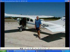 Stephen with Botswana Bush Plane