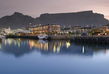Waterfront sunset Cape Town.