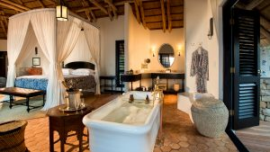 Casinha ensuite bathroom benguerra island Mozambique