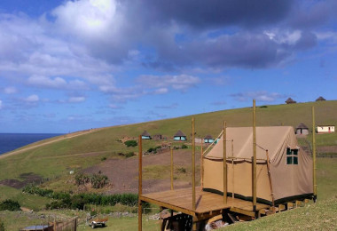 Tents at wild Lubanzi wild Coast Eastern cape