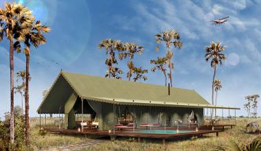 Jacks camp tent Botswana