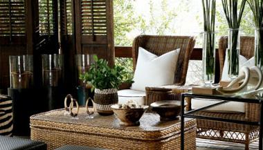 Londolozi Tree House deck Lounge