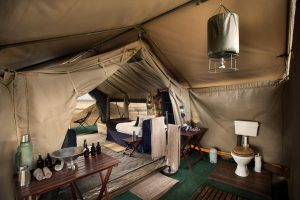 Mana Pools en suite tents Zimbabwe safari
