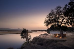 Mana Pools tent evening time Zimbabwe Safari