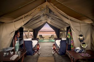 Mana pools inside tents Zimbabwe Safari
