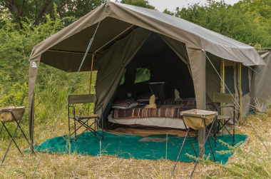 Morula tent botswana overland safari