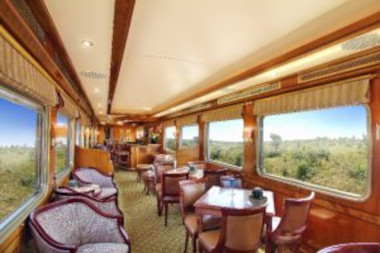 Non smoking lounge blue train
