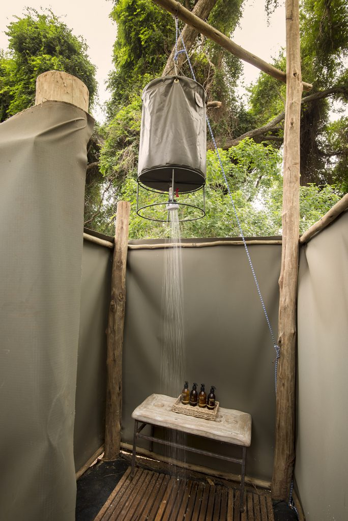 Pafuri trail outdoor shower