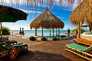 Pambela  Luxury beach resort San Sebastien Peninsula in Mozambique.