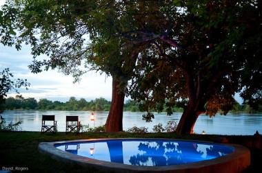 Robins House outside pool