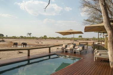 Savute safari lodge pool area