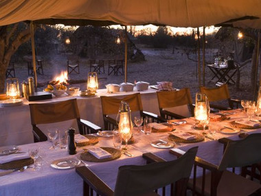 Savute tented camp dinning area