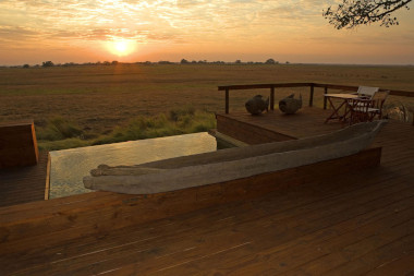 Shumba Camp Busanga plains outside deck Kafue National Park Zambia Safari.