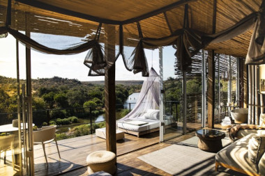 Singita Lebombo sleep out deck kruger safari