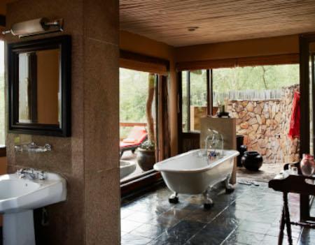 Singita Boulders bathroom kruger safari