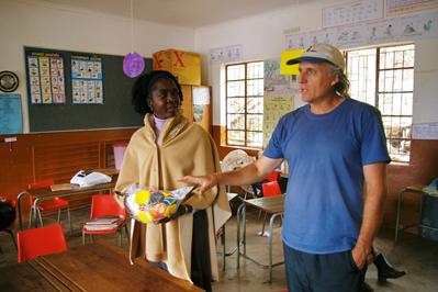 Stephen in rural Venda School