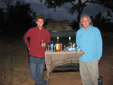 Sunset drinks South Africa Safari