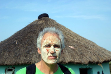Local Xhosa face painting wild coast Eastern Cape