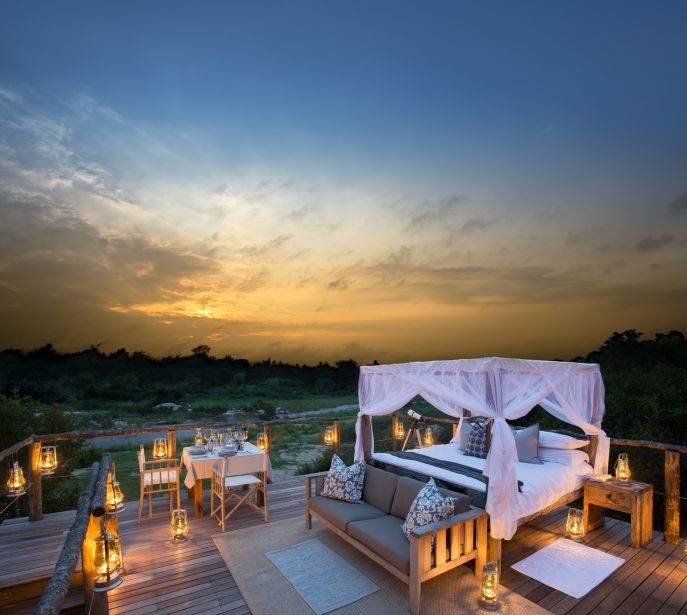 Tinga treehouse Lion sands kruger Park Safari.