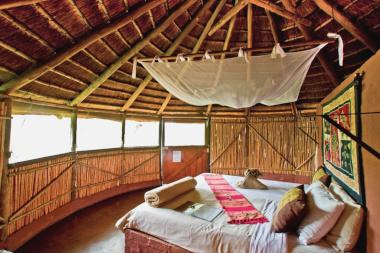 Umlani inside huts Timbivati safar