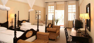 Victoria Falls Hotel Deluxe twin room.