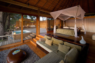Vumbura plains guest lodging interior