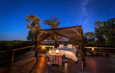 Abu camp sleep under the stars Botswana Safari