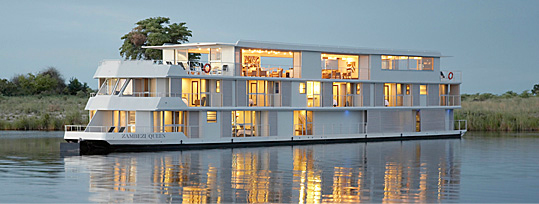 Chobe Houseboat The Zambezi Queen Chobe National Park Botswana Safari