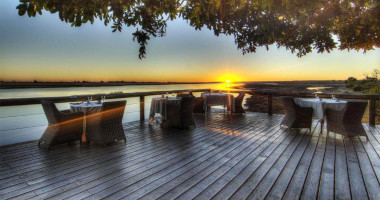 Chobe  Game lodge sunset dinner
