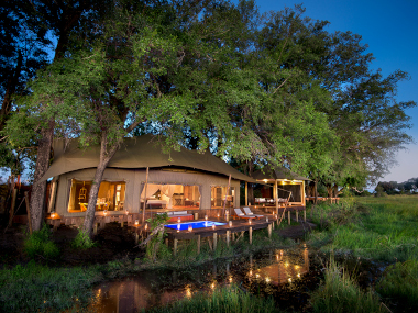 Duba Plains guest tent lodging