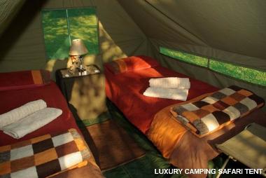 Okavango Delta river safari tent