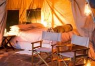 Moremi tent for walking Botswana  safari