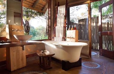 Southern Kruger National Park walking safari lodge bathroom