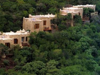Rock lodge view Phinda safari