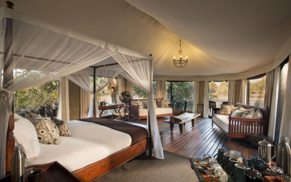 safari tent kanga camp mana pools zimbabwe safari