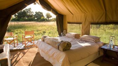 Savute tent Botswana Safari