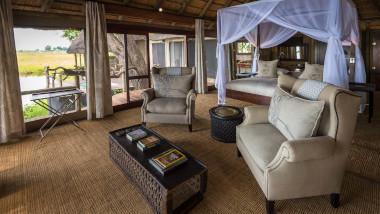 Tented bedtoom Kings Pool Botswana Safari