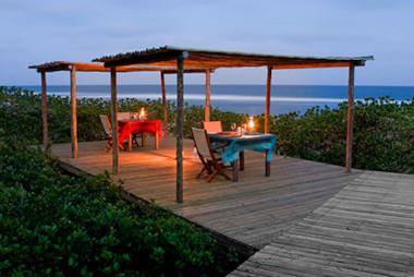 Thonga Beach deck sunset