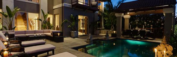 villa bali pool area