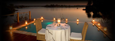 Sussi Chuma Livingstone outdoor dining
